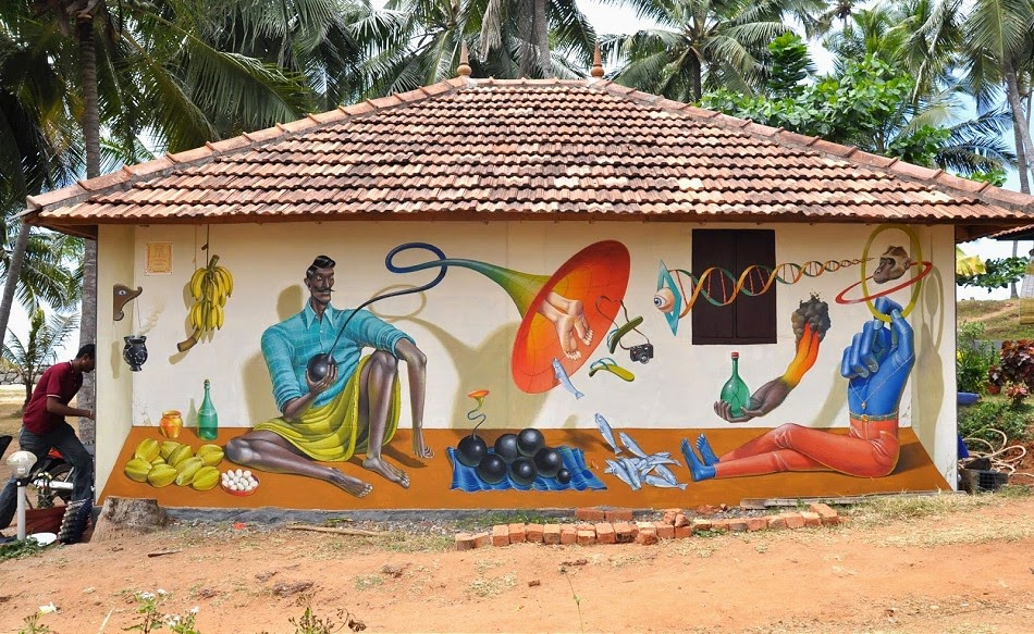 Aec (Interesni Kazki) reveals his recent mural in Verkala, India