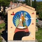Agostino Iacurci New Mural For Sanba – Rome, Italy (Part II)