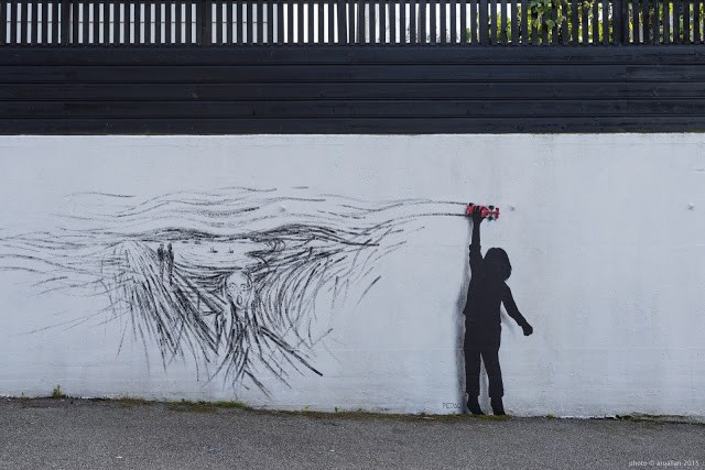 Pejac unveils a new piece in Stavanger, Norway for Nuart '15
