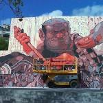 Aryz New Mural In Progress, Barcelona Spain