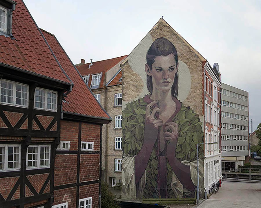 Aryz New Mural For We Aart – Aalborg, Denmark