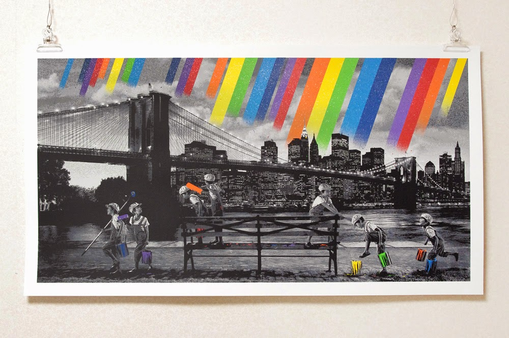 "Roamcouch ""Rainbow Inc Brooklyn Bridge"" Limited Edition Screen Print"