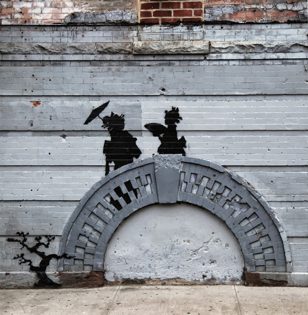 """Banksy """"Geishas"""" New Street Piece For """"Better Out Than In"""" - Bedford-Stuyvesant, Brooklyn"""