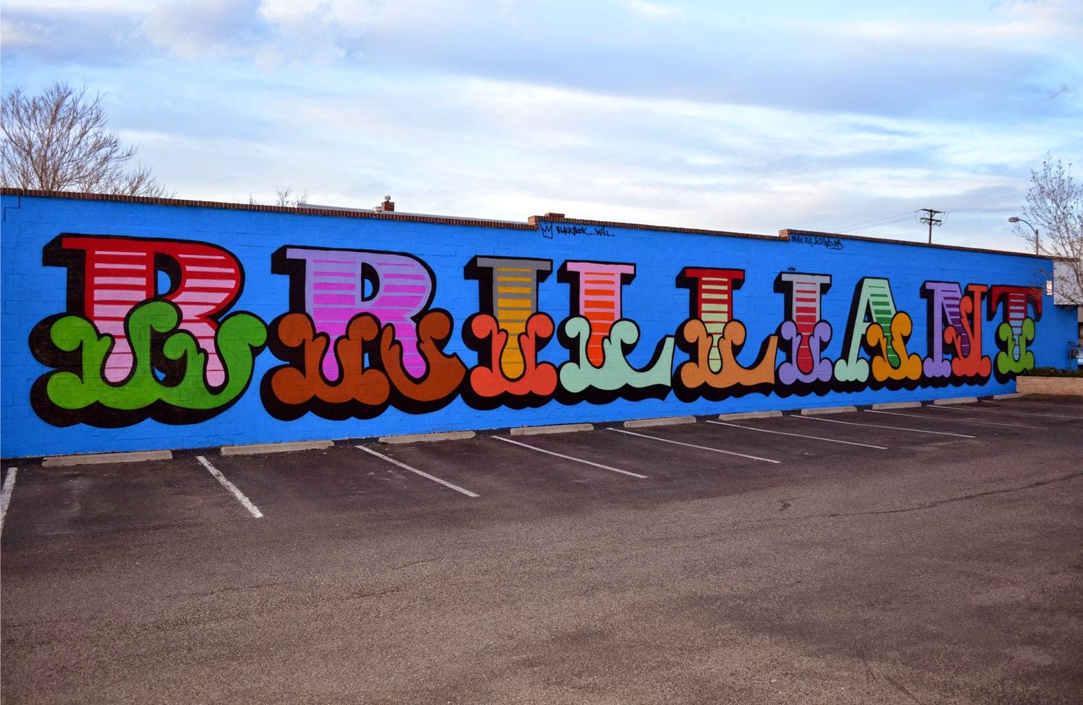 Ben Eine New Mural - Denver, Colorado