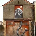 Phlegm New Street Piece For Empty Walls Festival – Cardiff, Wales (Part II)