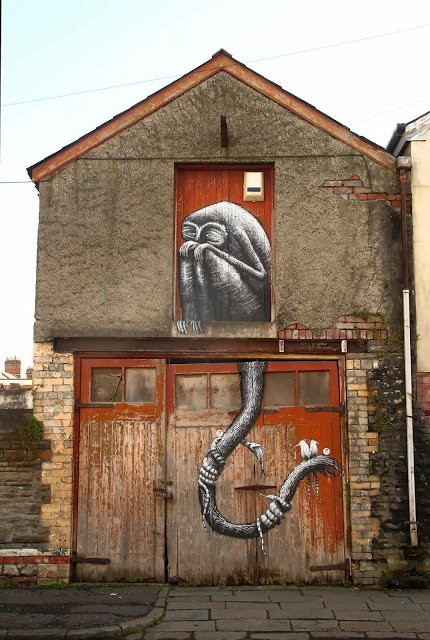 Phlegm New Street Piece For Empty Walls Festival – Cardiff, Wales (Part II)
