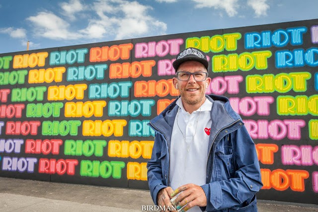 "Eine creates ""Riot"", his newest piece on Coney Island"