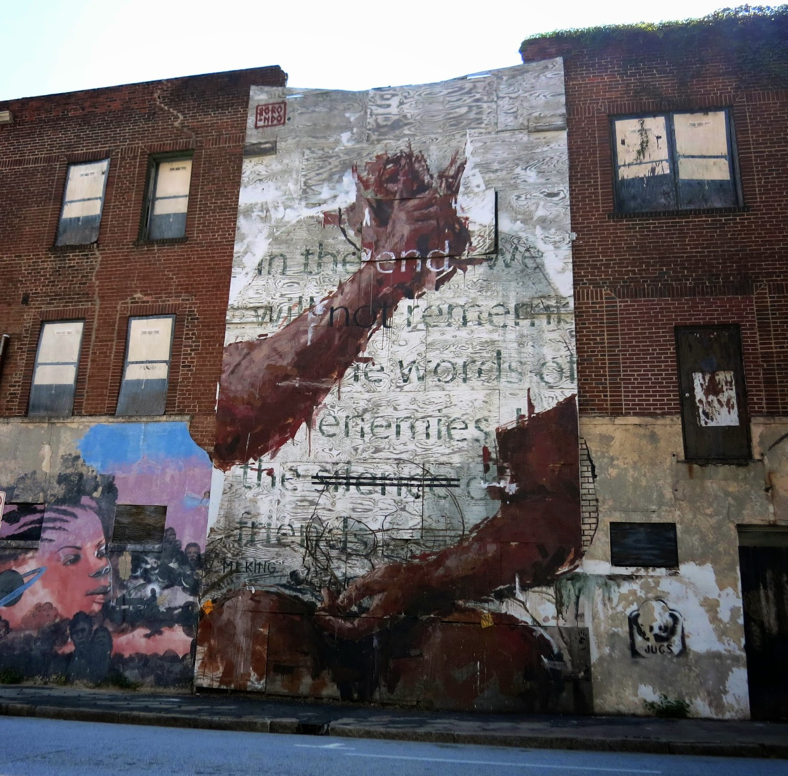 Borondo new mural for living walls 39 14 atlanta usa for Atlanta mural artist