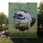 Bozko Paints a New Mural For Flaster Festival in Banja Luka, Bosnia