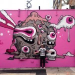 Buff Monster paints a new mural at The Bushwick Collective block party Brooklyn, NYC