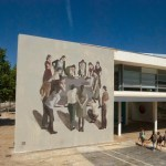 Hyuro paints a new piece at the Polytechnic University of Valencia in Spain