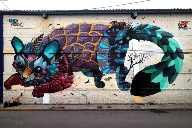 "Farid Rueda unveils ""Cacomixtle"", his newest mural in Monterrey, Mexico"