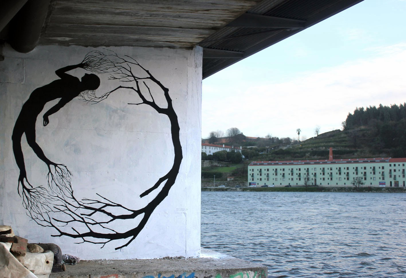 David De La Mano x Pablo S. Herrero New Murals - Porto, Portugal