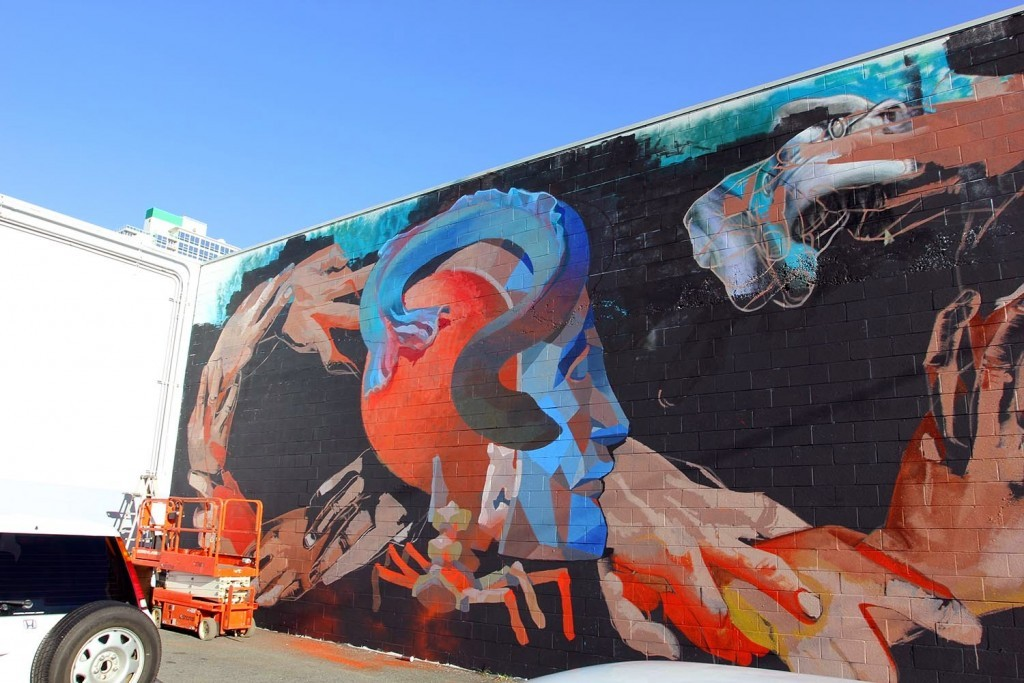 Pow! Wow! Hawaii 2015: Work in progress by Case Ma'Claim and Smithe