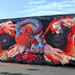 Pow! Wow! Hawaii 2015: Case Ma'Claim & Smithe collaborate on a mural for PangeaSeed