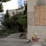 Banksy 'Charlie Brown' New Street Piece In Los Angeles