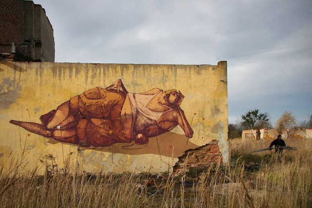 "Sepe ""Chilling On The Mine Field"" New Mural – Kluczbork, Poland"