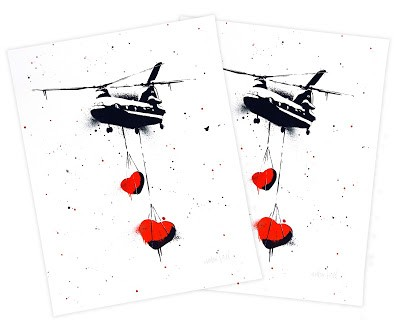 "Martin Whatson x StreetArtNews ""Chinook Hearts"" Handfinished Prints Giveaway"
