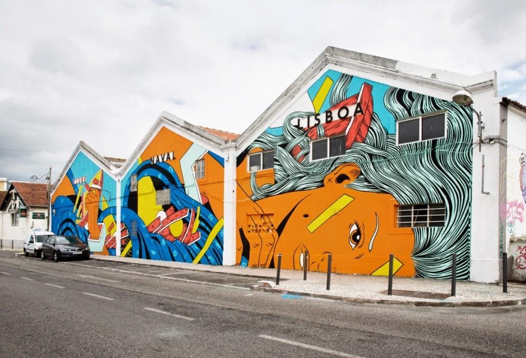 Bicicleta Sem Freio New Mural – Lisbon, Portugal