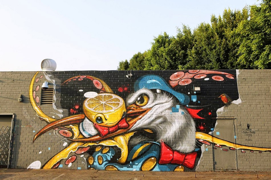 Greg Simkins Craola New Mural – Los Angeles, USA