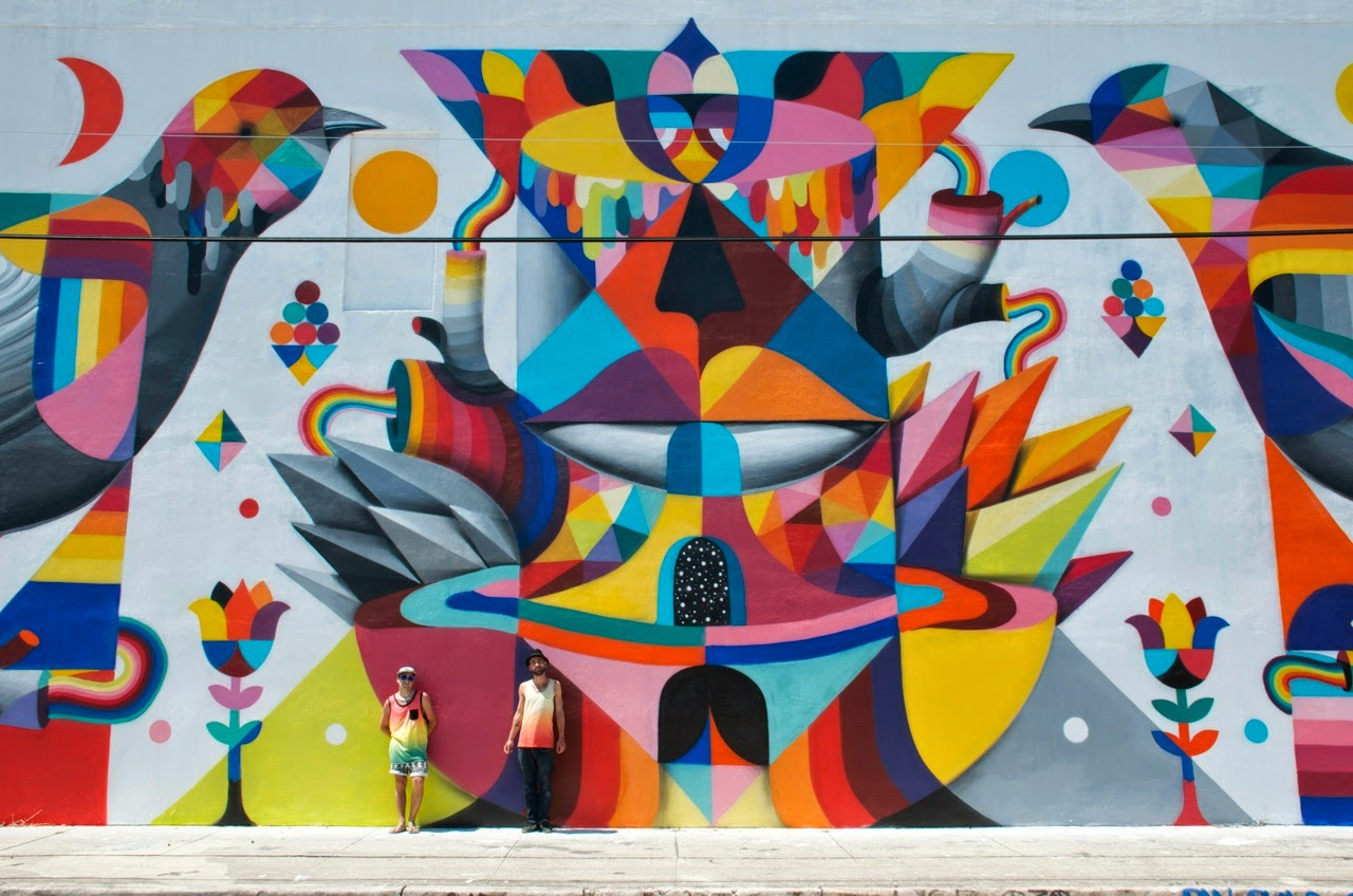 Remed X Okuda New Mural Wynwood Miami Streetartnews