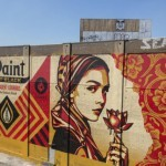 Shepard Fairey paints a new mural in Jersey City, USA