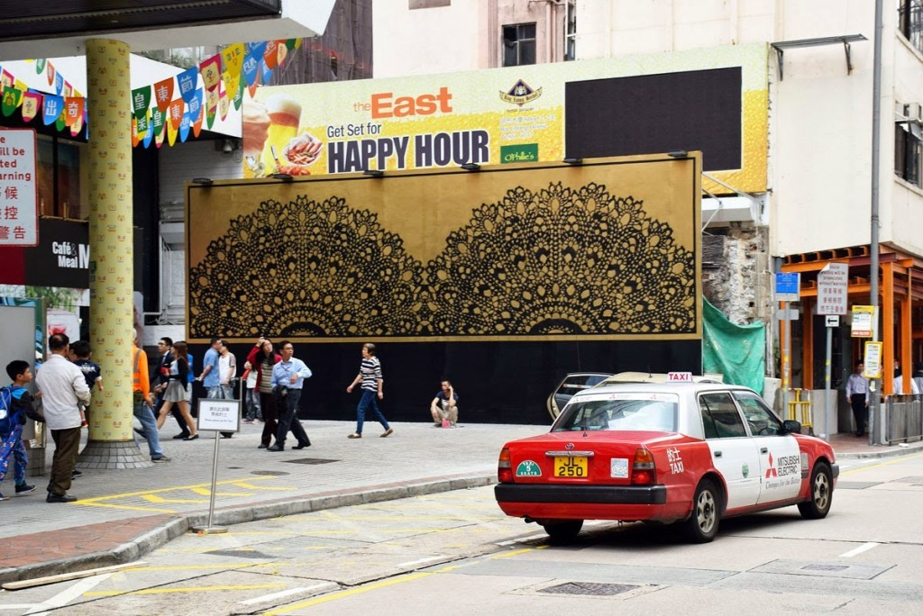 """NeSpoon unveils """"Happy Hour"""", a new mural in Hong-Kong"""