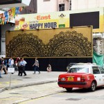 "NeSpoon unveils ""Happy Hour"", a new mural in Hong-Kong"