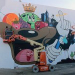Dabs Myla New Mural In Progress, Los Angeles