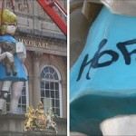 "Damien Hirst ""Charity"" Statue Vandalised in Bristol"