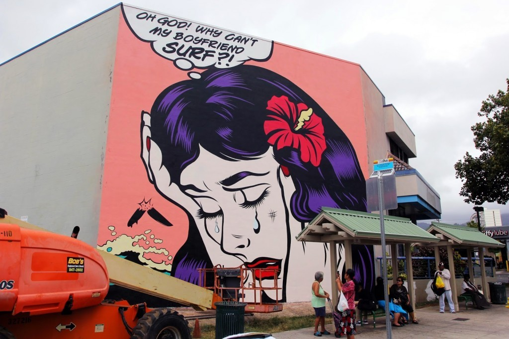 Pow! Wow! Hawaii 2015: Dface unveils a new mural in Honolulu