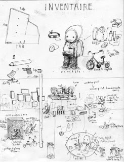 "Dran's inventaire for ""I Have Chalks"" at POW"