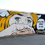 "D*Face creates ""You're Dead To Me"" in Los Angeles, USA"