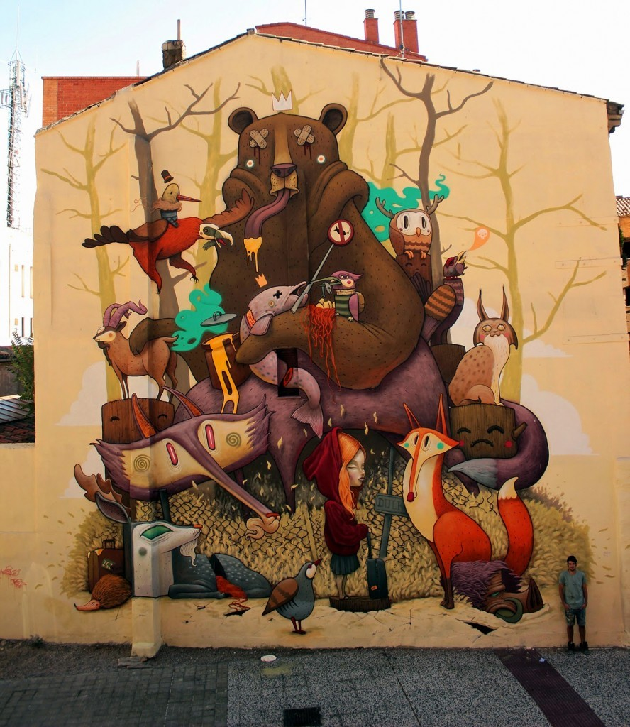 Dulk creates a new mural for Asalto Festival in Zaragoza, Spain