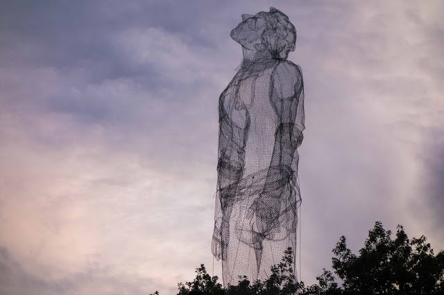 Edoardo Tresoldi brings his giant sculptures to Roskilde Festival in Denmark