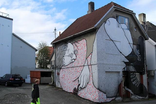 Nuart '15: Ella & Pitr unveils a second mural in Stavanger, Norway
