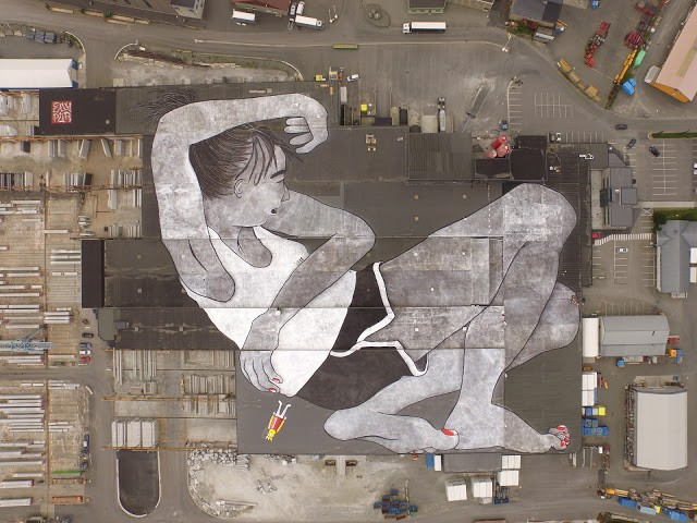 Ella & Pitr unveils the world's largest outdoor mural for Nuart in Klepp, Norway