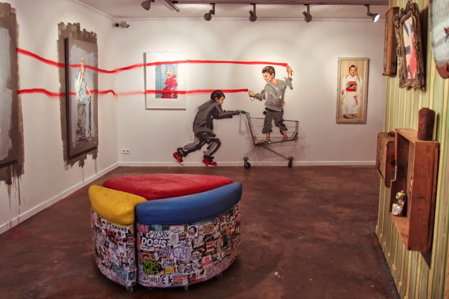 "Coverage: Ernest Zacharevic ""Rock Paper Scissors!"" @ Barcelona's Montana Gallery"
