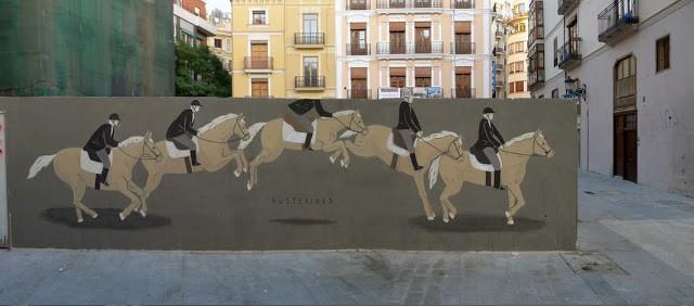 Escif New Mural in Valencia, Spain
