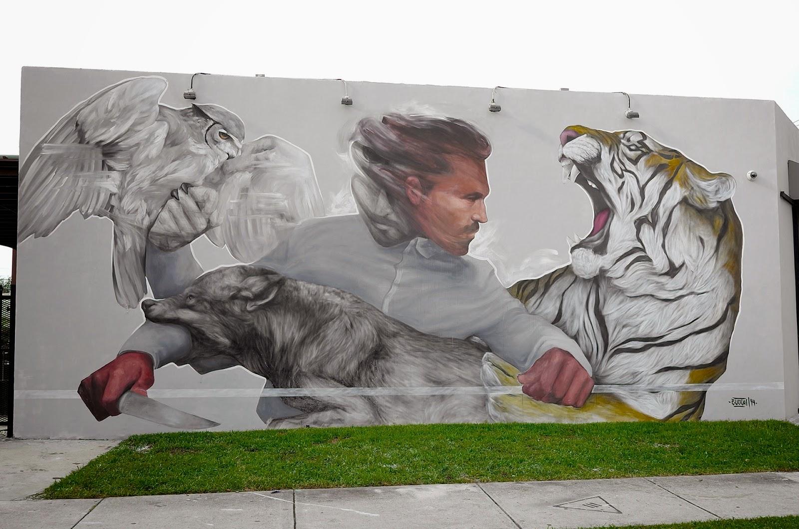 """Evoca1 """"Requiem For Salvation"""" New Mural - Miami, USA"""