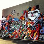 Meggs x Peap Tarr x Will Barras x Mr Jago x Angry Woebots New Mural In Honolulu, Hawaii