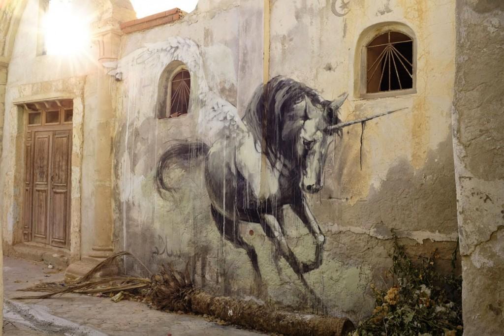 "Faith47 ""Hunt Her"" New Street Piece – Djerba, Tunisia"