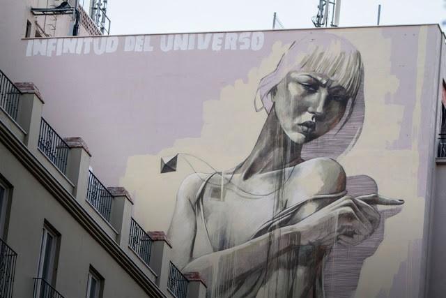 "Faith47 ""Infinitud Del Universo"" New Mural – Malaga, Spain"