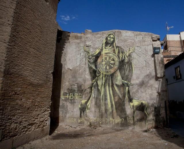 "Faith47 ""Saturation, Incubation, Illumination"" New Street Art For Avant Garde Urbano '13 – Tudela, Spain"