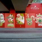 Finok paints a new new mural in Heerlen, Netherlands