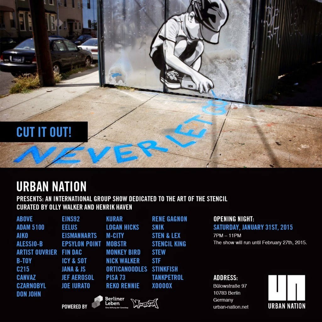 "Preview: ""CUT IT OUT!"" Group Show @ Berlin's Urban Nation"