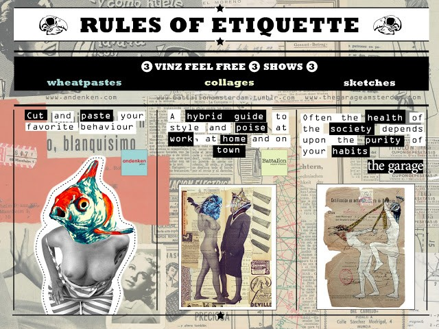 """VinZ """"Rules Of Etiquette"""" Amsterdam Solo Shows July 14th"""