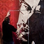 "Shepard Fairey MOCA's ""Art In The Streets"" Installation Preview"