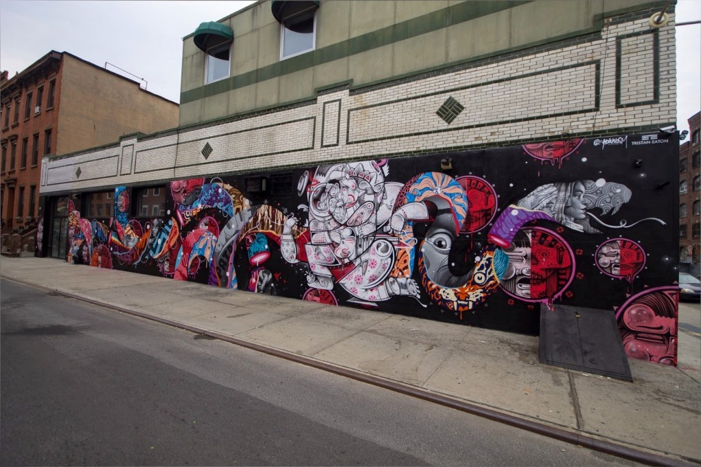 How Nosm & Tristan Eaton collaborate on a new piece in New York