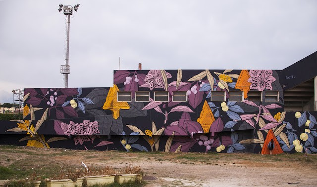 "Pastel creates ""Not Now"", his latest mural in Gaeta, Italy"